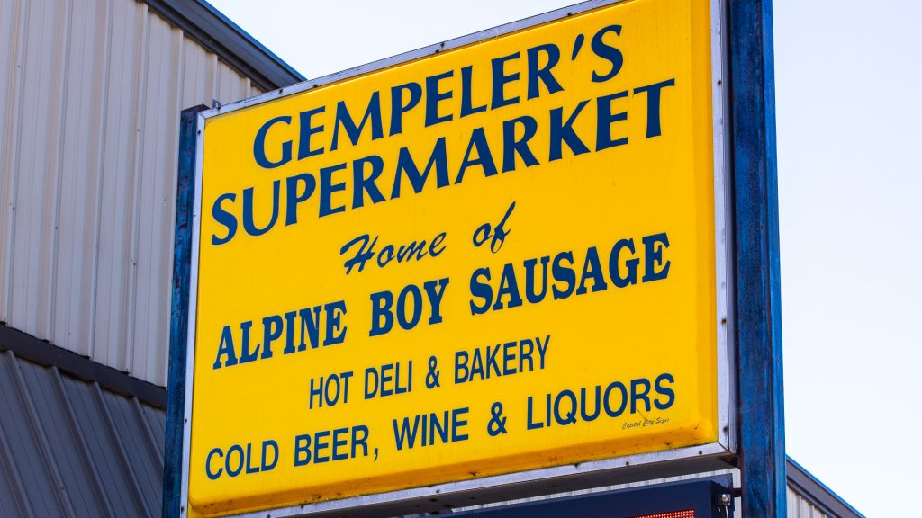 Gempeler's Supermarket sign